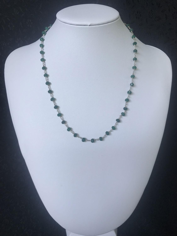 Favorito Collana girocollo verde smeraldo XR16
