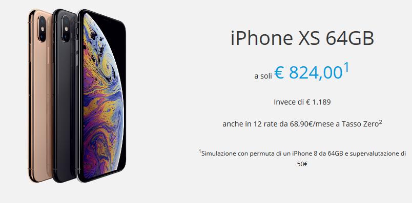 Rivalutazione uato Iphone XS