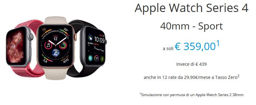 Rivalutazione usato Apple Watch