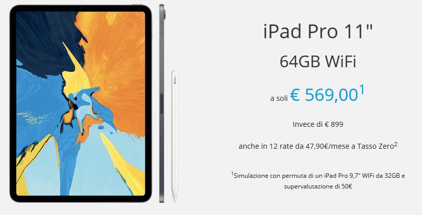 Rivalutazione usato iPad pro
