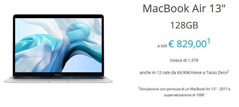 Rivalutazione usato MacBook Air