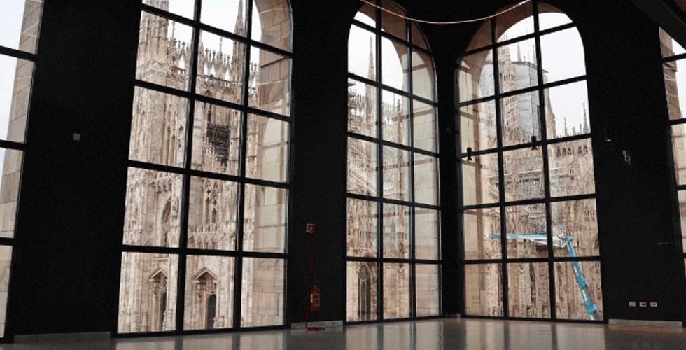 interno museo del 900 vista duomo