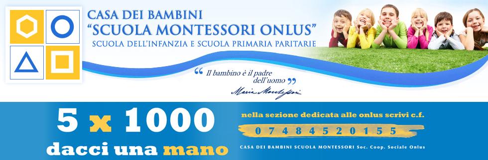 5 per mille Montessori Milano