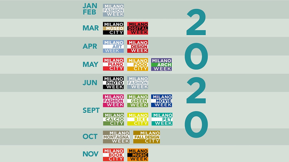 Milano calendario week 2020